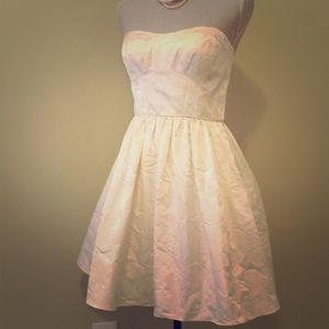Aidan Maddox Ivory brocade taffeta  party dress